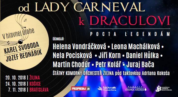"Benefičný koncert ""Od LADY CARNEVAL kDRACULOVI"""